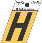 Hy-Ko Prod GR-10/H 1-1/2-Inch Black/ Gold Aluminum Adhesive Angle Cut H