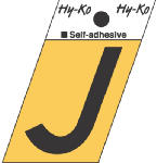 Hy-Ko Prod GR-10/J 1-1/2-Inch Black/ Gold Aluminum Adhesive Angle Cut J