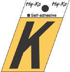 Hy-Ko Prod GR-10/K 1-1/2-Inch Black/ Gold Aluminum Adhesive Angle Cut K