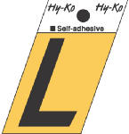 Hy-Ko Prod GR-10/L 1-1/2-Inch Black/ Gold Aluminum Adhesive Angle Cut L