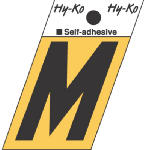 Hy-Ko Prod GR-10/M 1-1/2-Inch Black/ Gold Aluminum Adhesive Angle Cut M