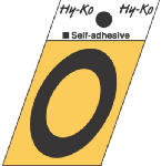 Hy-Ko Prod GR-10/O 1-1/2-Inch Black/ Gold Aluminum Adhesive Angle Cut O