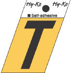 Hy-Ko Prod GR-10/T 1-1/2-Inch Black/ Gold Aluminum Adhesive Angle Cut T