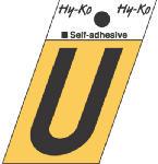 Hy-Ko Prod GR-10/U 1-1/2-Inch Black/ Gold Aluminum Adhesive Angle Cut U