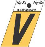 Hy-Ko Prod GR-10/V 1-1/2-Inch Black/ Gold Aluminum Adhesive Angle Cut V