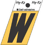 Hy-Ko Prod GR-10/W 1-1/2-Inch Black/ Gold Aluminum Adhesive Angle Cut W