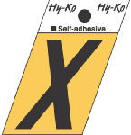 Hy-Ko Prod GR-10/X 1-1/2-Inch Black/ Gold Aluminum Adhesive Angle Cut X