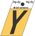 Hy-Ko Prod GR-10/Y 1-1/2-Inch Black/ Gold Aluminum Adhesive Angle Cut Y