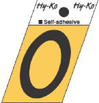 Hy-Ko Prod GR-10/0 1-1/2-Inch Black/ Gold Aluminum Adhesive Angle Cut 0