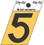 Hy-Ko Prod GR-10/5 1-1/2-Inch Black/ Gold Aluminum Adhesive Angle Cut 5