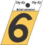 Hy-Ko Prod GR-10/6 1-1/2-Inch Black/ Gold Aluminum Adhesive Angle Cut 6