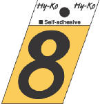 Hy-Ko Prod GR-10/8 1-1/2-Inch Black/ Gold Aluminum Adhesive Angle Cut 8