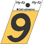 Hy-Ko Prod GR-10/9 1-1/2-Inch Black/ Gold Aluminum Adhesive Angle Cut 9