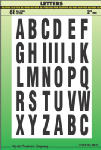 Hy-Ko Prod MM-7L 2-Inch Black/ White Letters Assortment