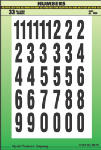 Hy-Ko Prod MM-7N 2-Inch Black/ White Numbers Assortment