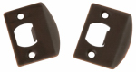 Belwith Products 1063 Bronze Full Lip Strike Plated Steel Plate With Adjustable Tab