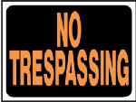 "Hy-Ko Prod 3014 ""No Trespassing"" Sign, Hy-Glo Orange/ Black Plastic, 9 x 12-In."
