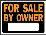 "Hy-Ko Prod 3007 9 x 12-Inch Hy-Glo Orange/ Black Plastic ""For Sale By Owner"" Sign"