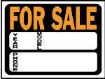"Hy-Ko Prod 3031 9 x 12-Inch Hy-Glo Orange/ Black Plastic ""Auto For Sale/ Year/ Model/ Phone"" Sign"
