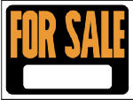 "Hy-Ko Prod 3006 9 x 12-Inch Hy-Glo Orange/ Black Plastic ""For Sale"" Sign"