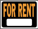 Hy-Ko Prod 3005 For Rent Sign, Plastic, 9 x 12-In.