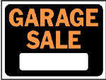 "Hy-Ko Prod 3023 9 x 12-Inch Hy-Glo Orange/ Black Plastic ""Garage Sale"" Sign"