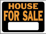 "Hy-Ko Prod 3004 9 x 12-Inch Hy-Glo Orange/ Black Plastic ""House For Sale"" Sign"