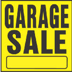 "Hy-Ko Prod YP-3 11 x 11-Inch Black/ Yellow Plastic ""Garage Sale"" Sign"