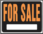 "Hy-Ko Prod SP-100 15 x 19-Inch Jumbo Hy-Glo Orange/ Black Plastic ""For Sale"" Sign"