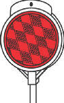 Hy-Ko Prod DM300R36 Reflective Driveway Marker, Red Round With Fiberglass Shaft, 36-In.