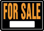 "Hy-Ko Prod 801 Sign, ""For Sale"", Hy-Glo Orange & Black Aluminum, 10 x 14-In."