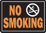 "Hy-Ko Prod 811 Sign, ""No Smoking"", Hy-Glo Orange & Black Aluminum, 10 x 14-In."