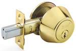 Taiwan Fu Hsing Industrial DL71 KA3 Single-Cylinder Deadbolt, Polished Brass, Must Purchase in Quant. of 3