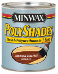 Minwax The 214754444 1/2-Pt. American Chestnut Gloss Polyshades Wood Stain