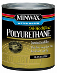 Minwax The 230254444 1/2-Pint Satin VOC Water-Based Polyurethane