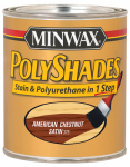 Minwax The 61375 1-Quart American Chestnut Satin Polyshades Stain