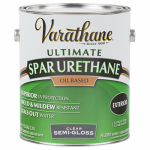 Rust-Oleum 242185 Varathane Gallon Clear Semi-Gloss Exterior Oil-Based Premium Spar Urethane Finish