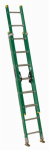 Louisville Ladder FE0616 16-Ft. Extension Ladder, Fiberglass, Type II, 225-Lb. Duty Rating