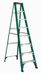 Louisville Ladder FS4008 8-Ft. Step Ladder - Fiberglass Type II 225-Lb. Duty Rating