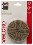 Velcro Usa Consumer Pdts 90088 Sticky Back Fastening Tape, Beige, 5-Ft. x 3/4-In.