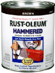Rust-Oleum 239073 Qt. Brown Hammered Rust Preventative Paint