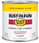 Rust-Oleum 7747730 1/2-Pint Stops Rust Gloss Sunburst Yellow Oil-Based Paint