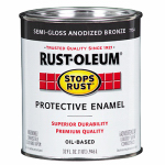 Rust-Oleum 7754502 Qt. Stops Rust Anodized Bronze Semi-Gloss Oil-Based Paint