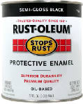 Rust-Oleum 7798502 Qt. Stops Rust Black Semi-Gloss Oil-Based Paint