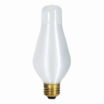 Westinghouse Lighting 03023 25-Watt White Glowescent Spun Satin Torpedo Light Bulb