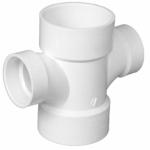 Charlotte Pipe & Foundry PVC 00429  0800HA 3x1-1/2 Double Sani Tee