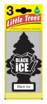Car Freshner U3S-32055 Black Ice Air Freshener, 3-Pk.
