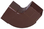 Genova Products RB209 Gutter Downspout Elbow, Brown Vinyl, 90 Degree