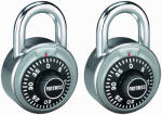 Master Lock 1850T 2-Pack 1-7/8 Inch Stainless-Steel Combination Lock