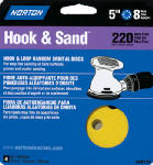 Norton Abrasives/St Gobain 49157 4-Pack 100-Grit Hook & Loop Paper Discs